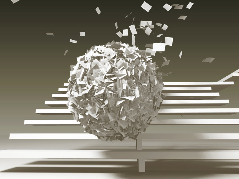 Download Paper Problems, Oncoming Ball Stock Illustration - Image: 2249186