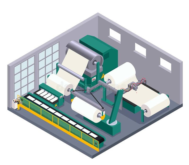 Paper Production Illustration vector illustration