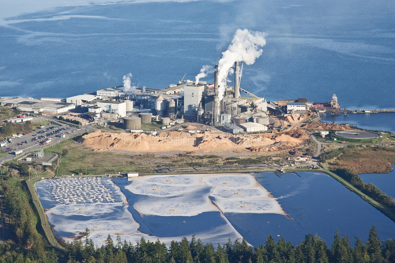 Paper Pulp Mill stock image