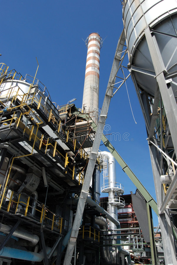 Paper and pulp mill - Cogeneration power plants royalty free stock photos