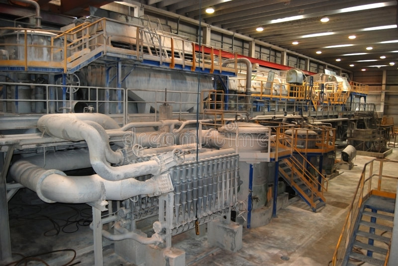 Paper and pulp mill - De-inking plants royalty free stock photography