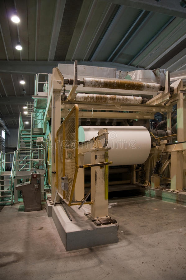 Download Paper And Pulp Mill - Fourdrinier Machine Royalty Free Stock Photo - Image: 11874975