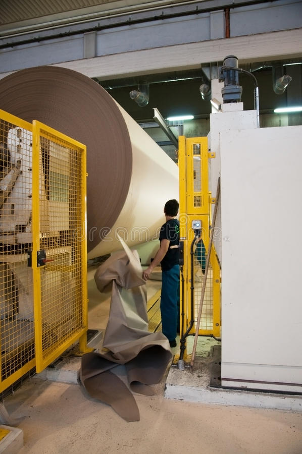 Paper and pulp mill - Fourdrinier machine stock photography