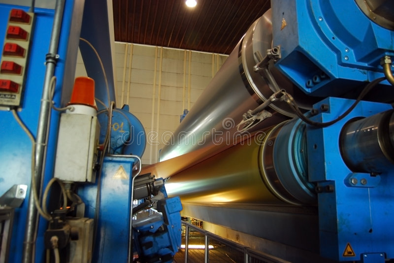 Paper and pulp mill - Fourdrinier Paper Machine royalty free stock photography