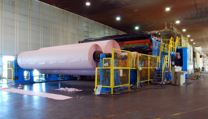 Paper and pulp mill - Fourdrinier Paper Machine royalty free stock images