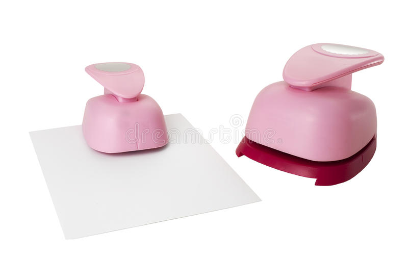 Paper puncher for crafts stock photo