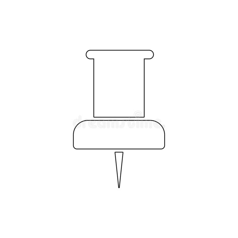 Paper push pin outline icon. Signs and symbols can be used for web, logo, mobile app, UI, UX stock illustration