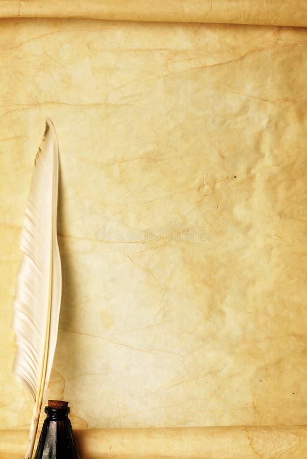 paper quill för färgpulver fotografering för bildbyråer