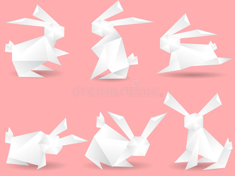 Download Paper rabbits stock vector. Illustration of wild, active - 22273333
