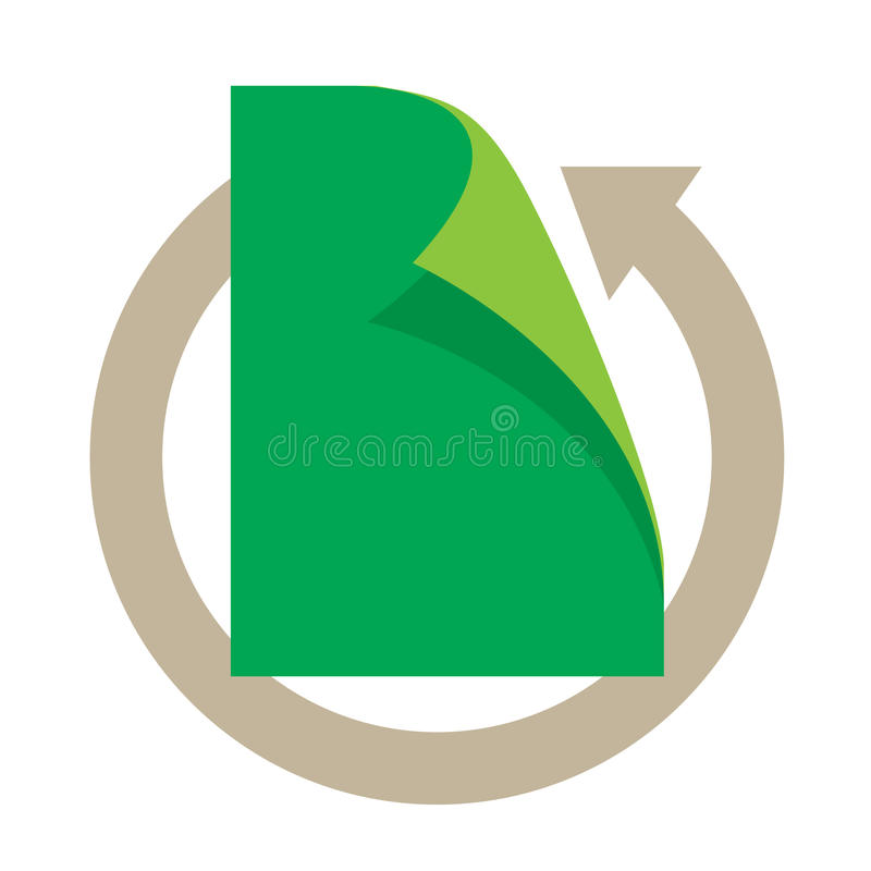 Download Paper recycle stock illustration. Image of process, conserve - 26279324