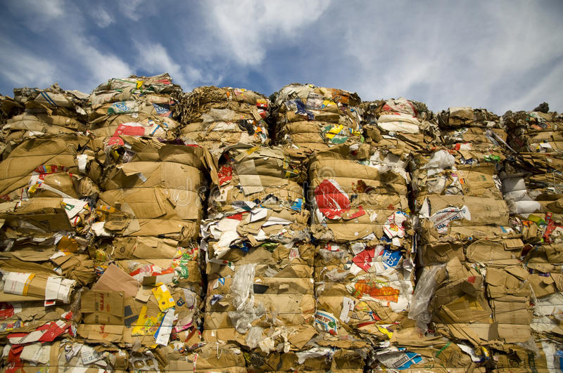 Download Paper recycling editorial stock photo. Image of dump - 18281558