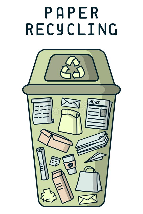 Paper recycling card stock illustration