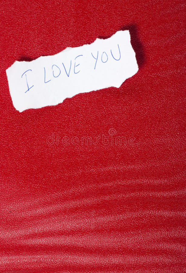 Download Paper On Red Background With Message Of Love Stock Image - Image of celebrate, background: 22931199