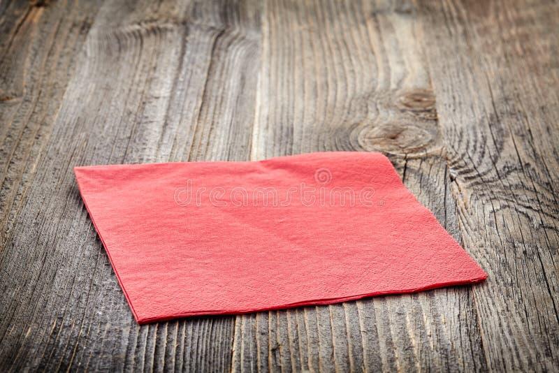 paper red för servett royaltyfri bild