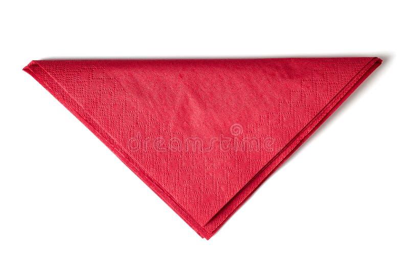 paper red för servett arkivbild