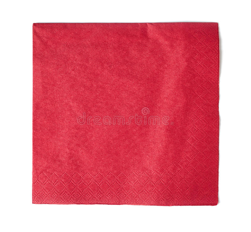 paper red för servett arkivfoton