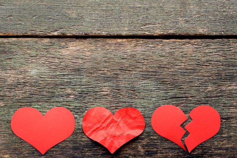 Paper red hearts stock photography