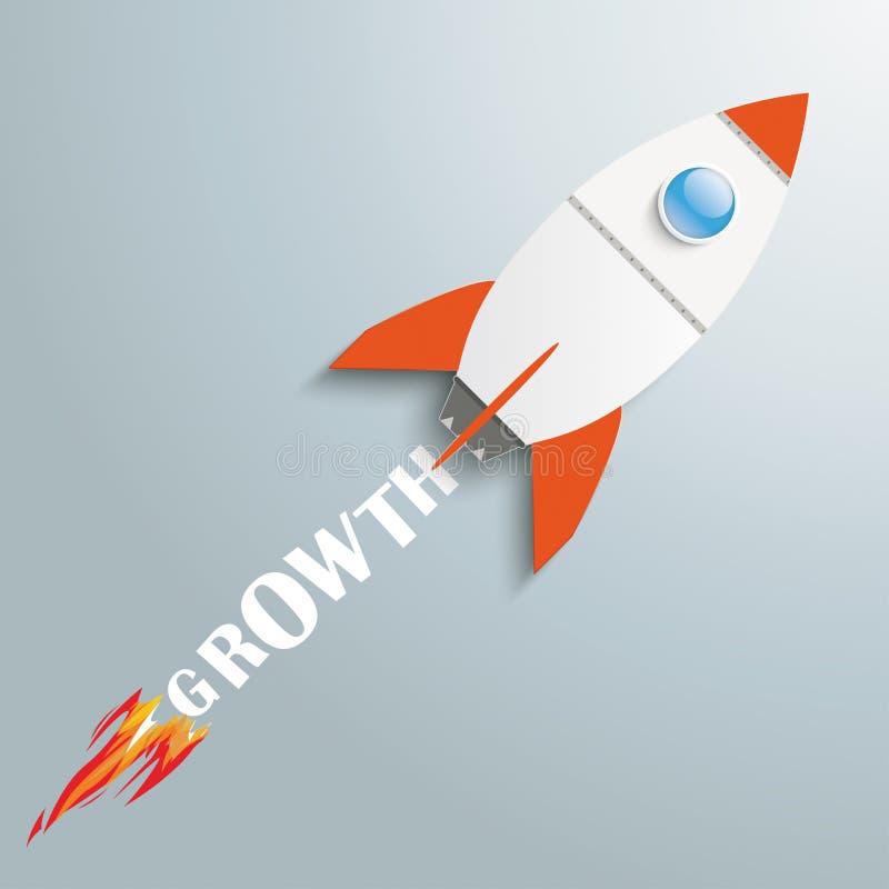 Paper Rocket Growth stock illustration