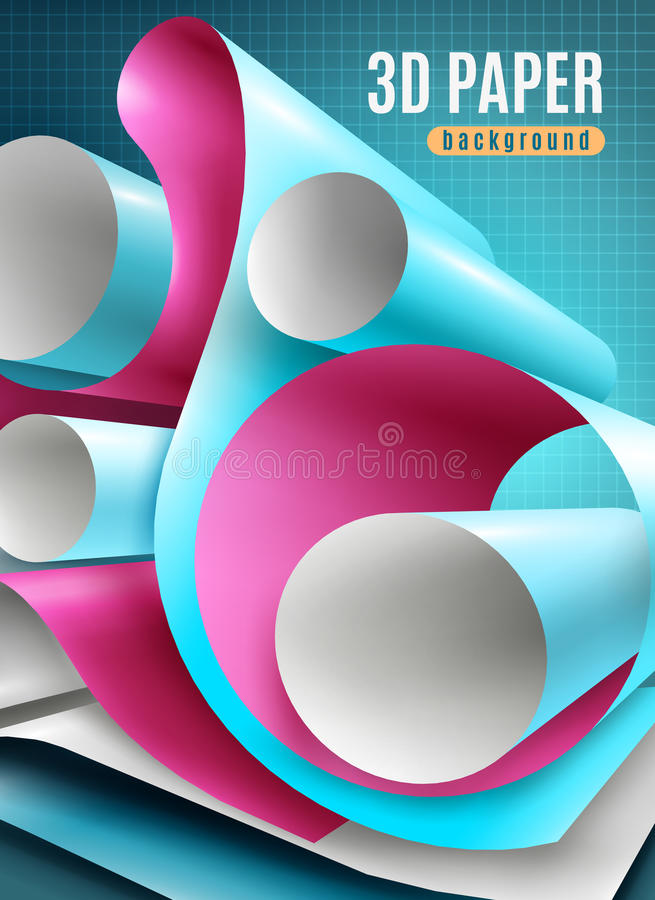 Paper Roll Background royalty free illustration