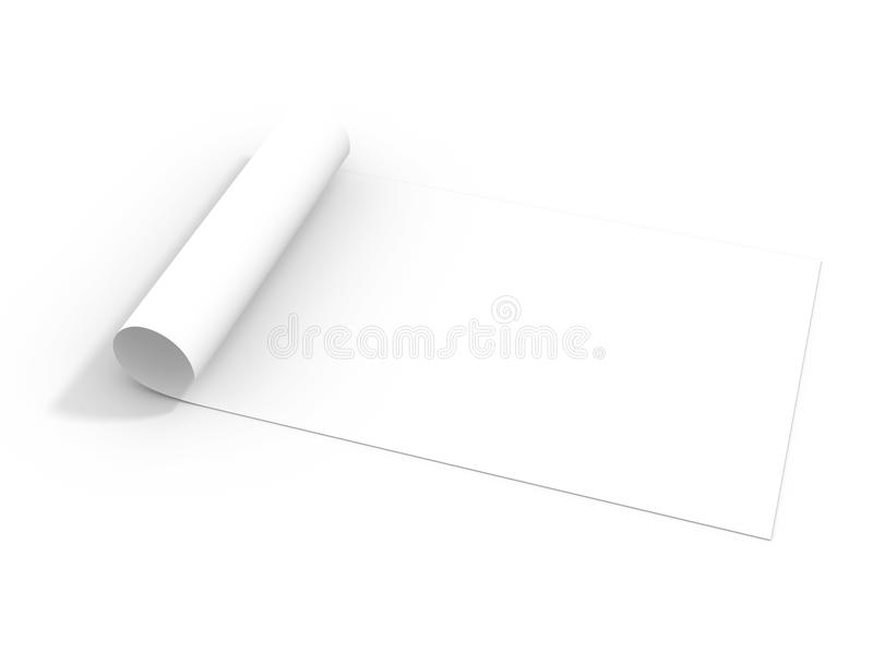 Download Paper Roll Isolated On White Stock Image - Image: 26552513