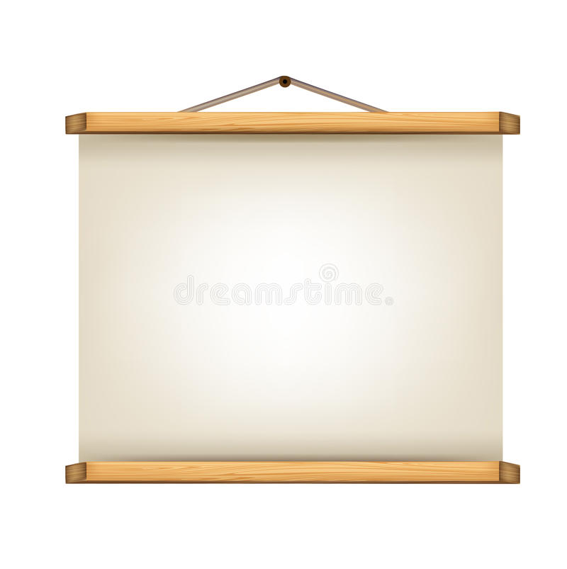 Paper Roll Sign With Wooden Frames Stock Vector - Illustration of ...