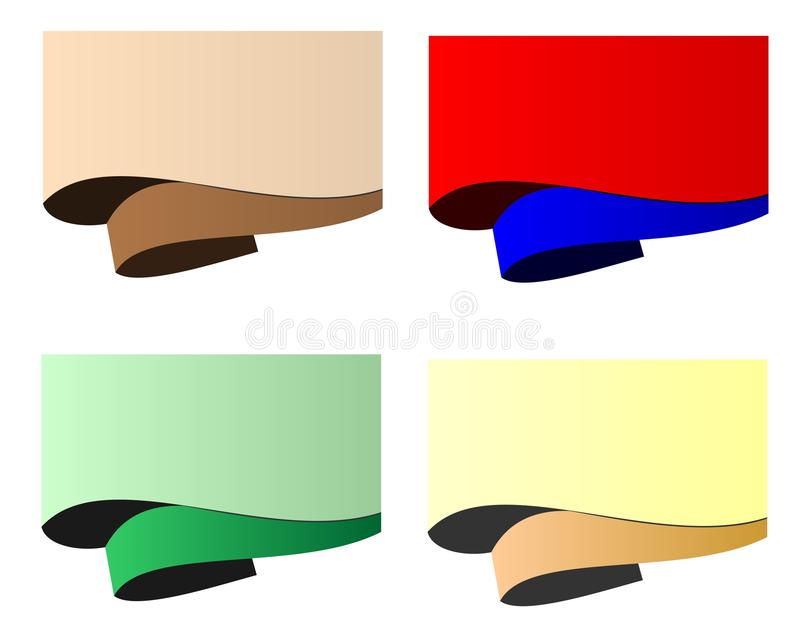Paper rolled, cdr vector stock photography