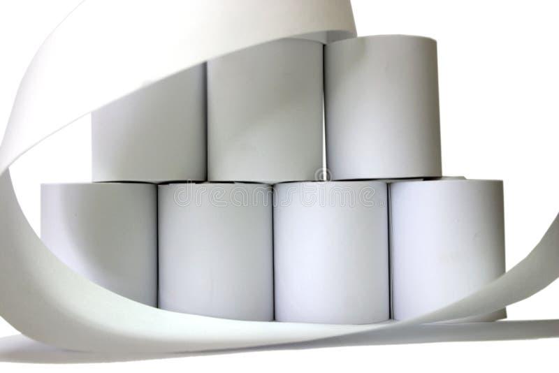 Paper rolls stock photo