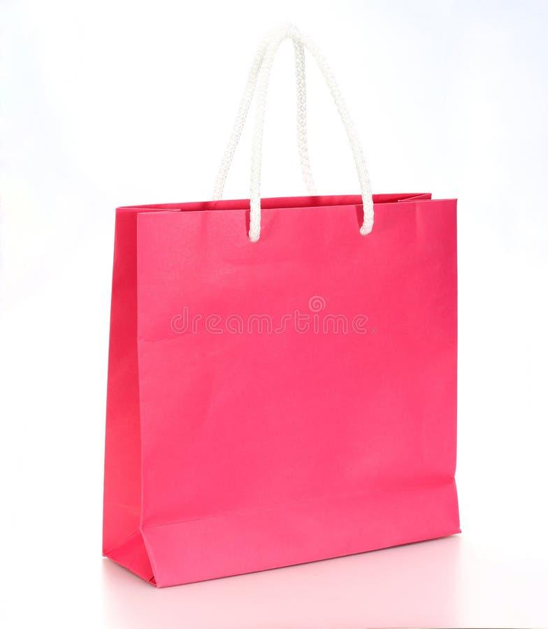 paper rosa shopping för påse royaltyfri foto