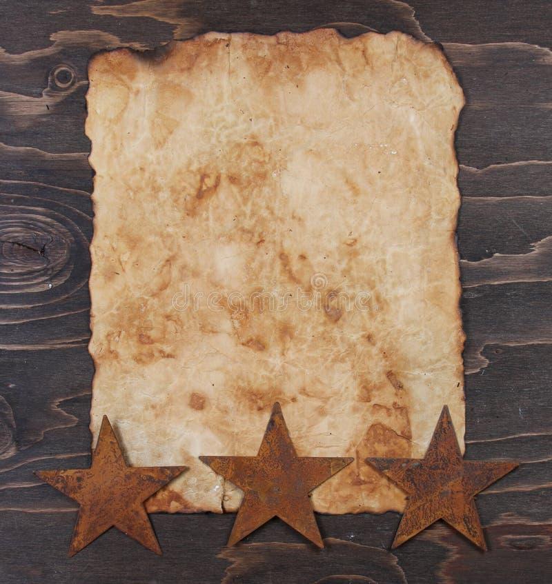 paper rostig stjärnatappning royaltyfri bild