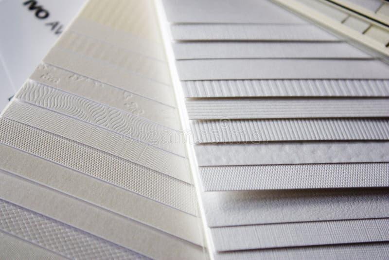 Paper samples stock photo