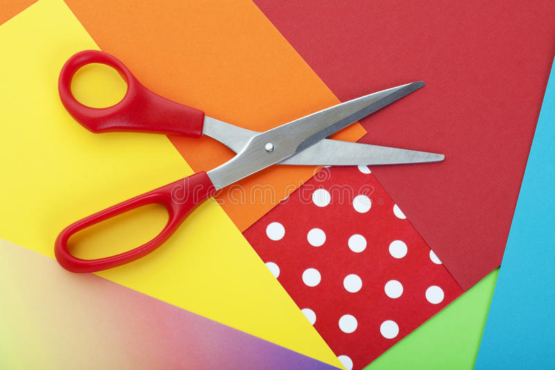 Paper and Scissors stock photography