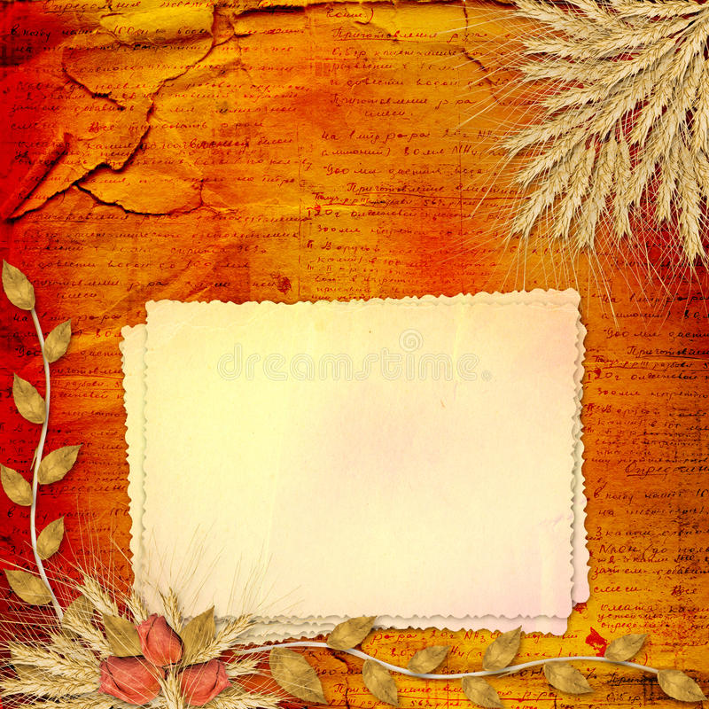 Download Paper In Scrapbooking Style With Bunch Of Rose Royalty Free Stock Photography - Image: 13695607