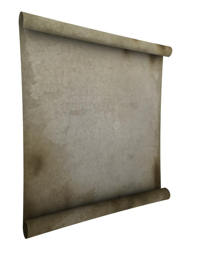 Paper scroll royalty free stock photo