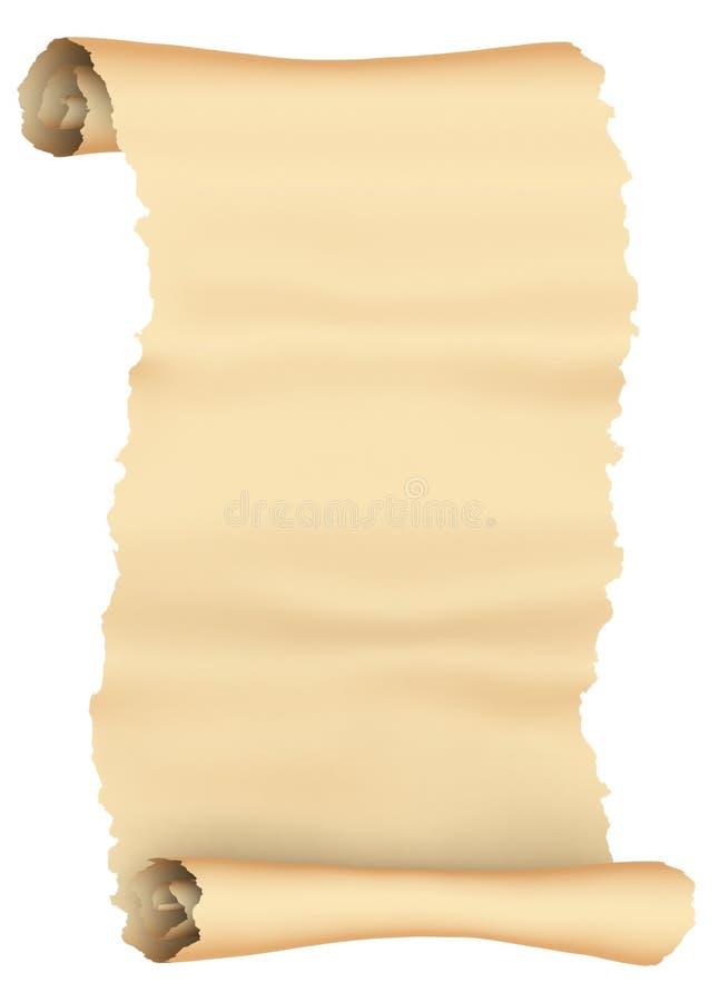 paper scroll royaltyfri illustrationer