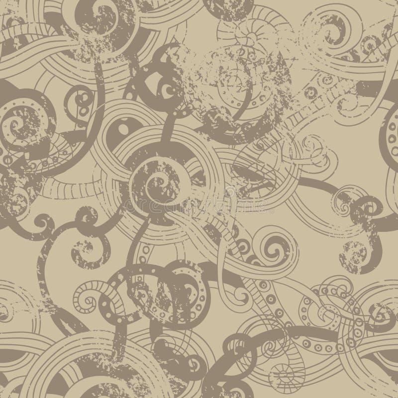 Paper seamless modell för hantverk royaltyfri illustrationer