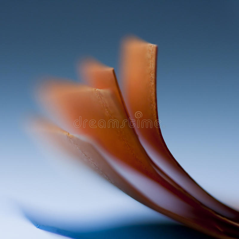 Paper shapes. With orange and blue stock photos