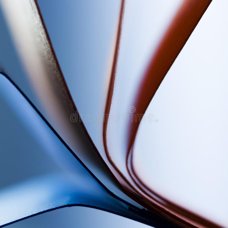 Paper shapes. With orange and blue royalty free stock image