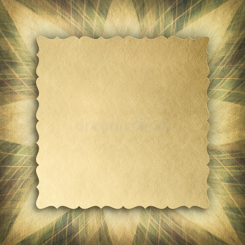 Paper sheet on abstract patterned background vector illustration