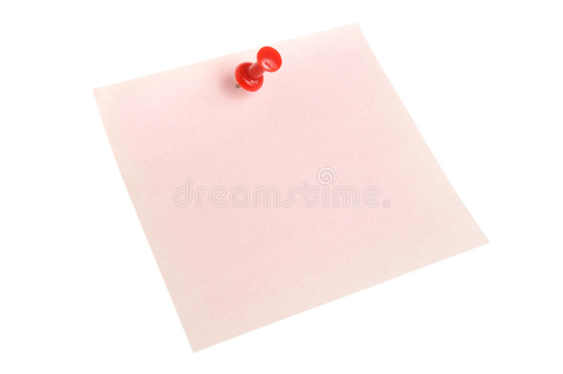 Paper sheet attached with office button isolated stock photos
