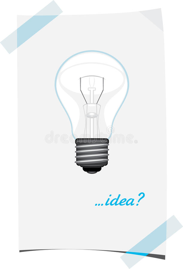 Download Paper Sheet With Light Bulb Stock Vector - Image: 32993460