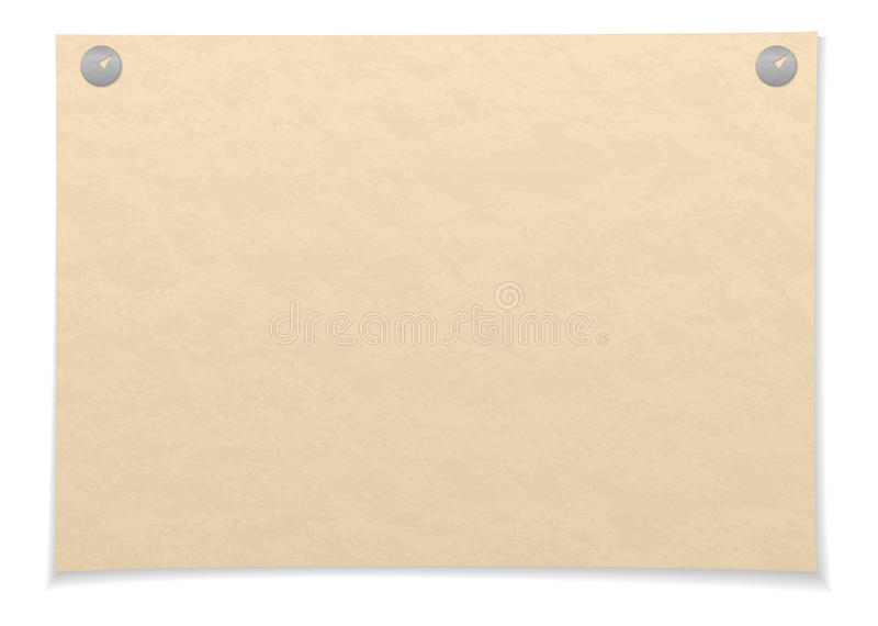 Paper sheet royalty free illustration