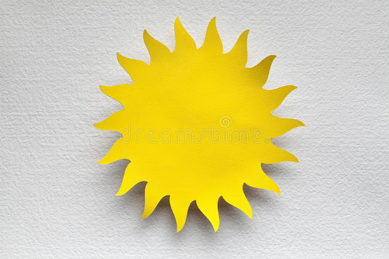 Paper sheet in the shape of sun royalty free stock photo