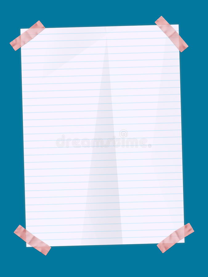 Paper Sheet With Stickers Stock Photography