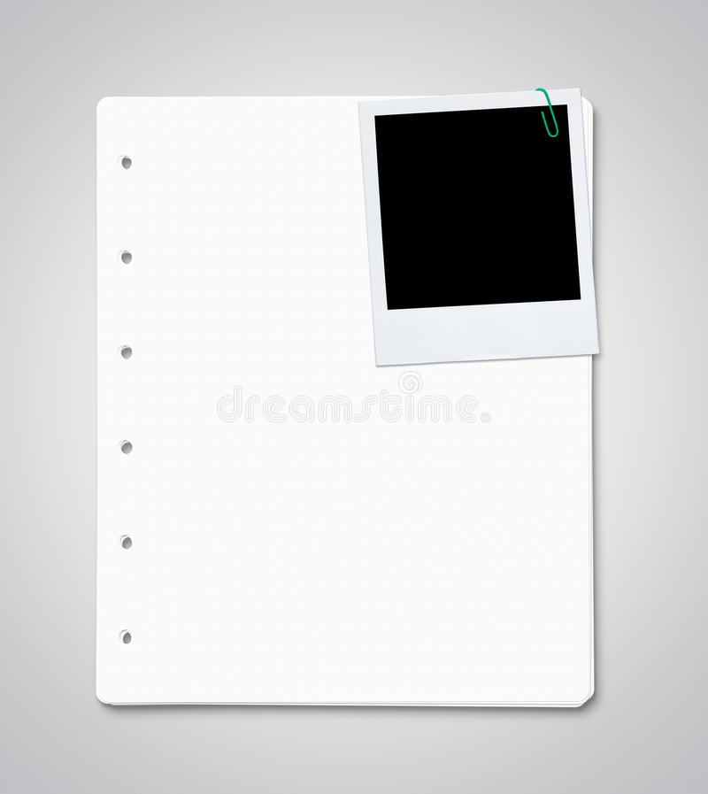 Download Paper Sheets With Blank Instant Photo Stock Photo - Image: 26232962