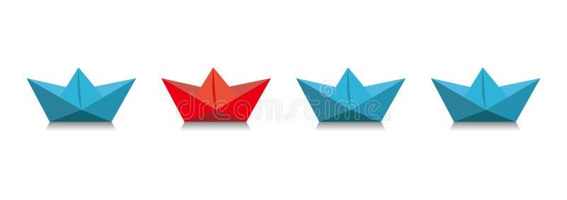 paper ship stock illustrationer