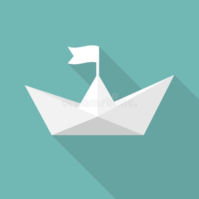 paper ship Design för vektorillustrationlägenhet vektor illustrationer