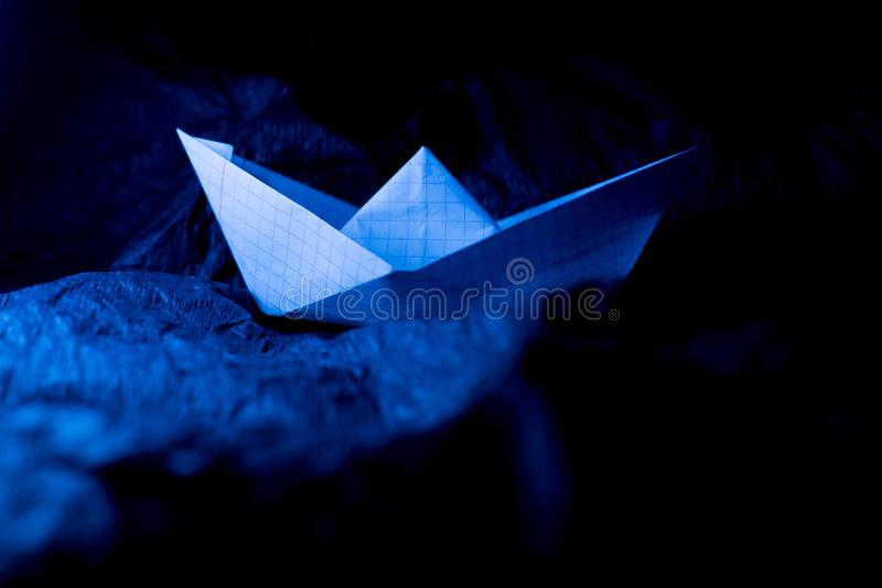 paper ship fotografering för bildbyråer