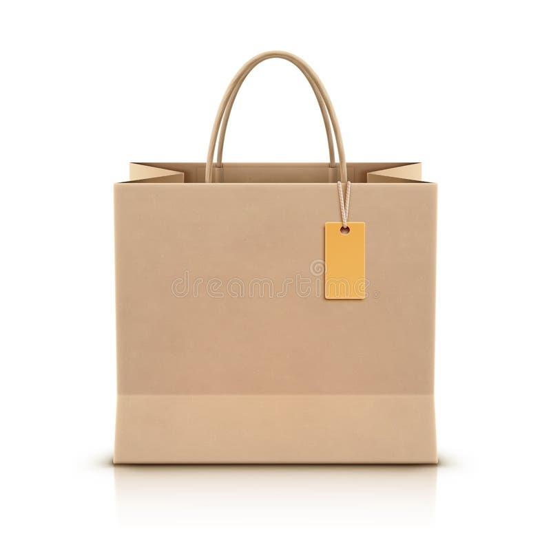 Paper shopping bag vector illustration