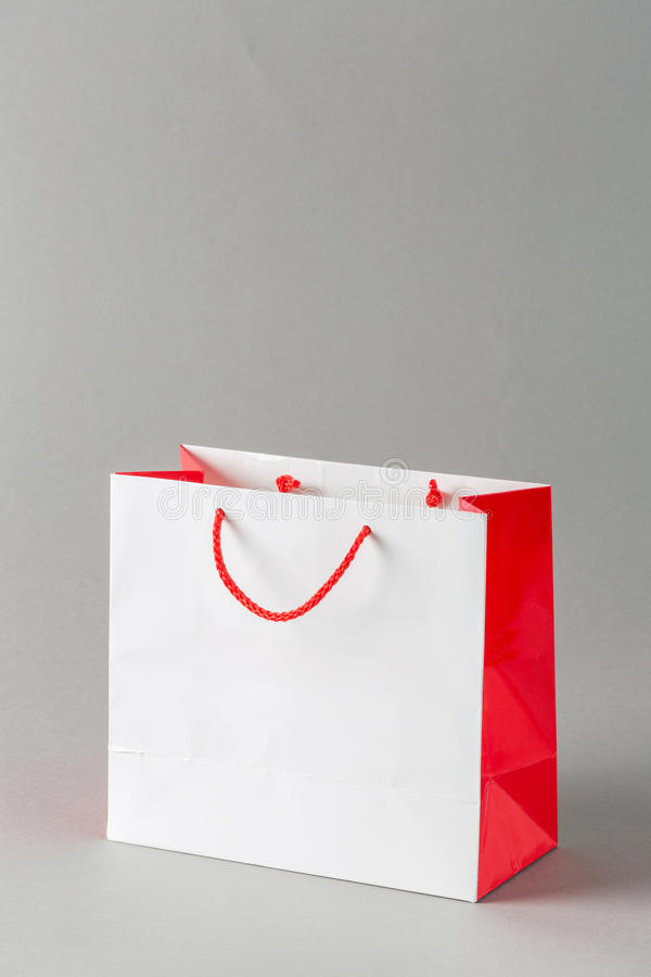 Download Paper shopping bag stock image. Image of fold, single - 33655663