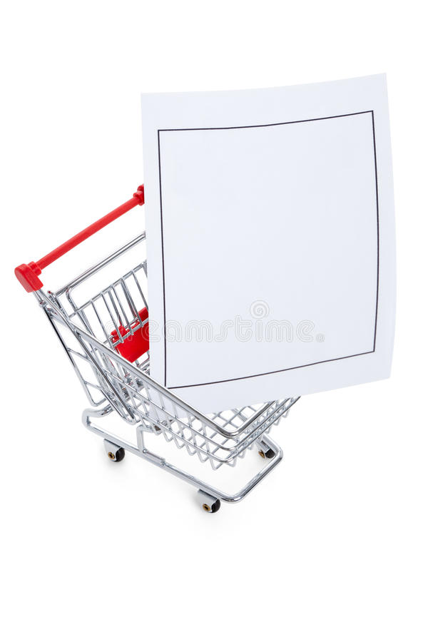 Paper and Shopping cart stock images